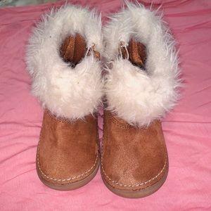 Genuine Kids From Oshkosh brown boots size 4